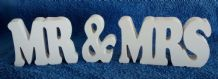 MR & MRS WOODEN PLAQUE/SIGN/WEDDING GIFT large wooden letters